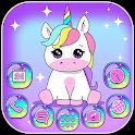Pink Unicorn Theme Launcher icon