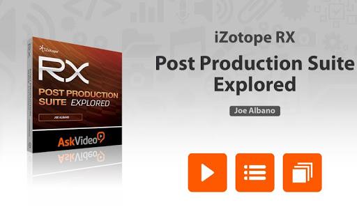Course For RX Post Prod. Suite