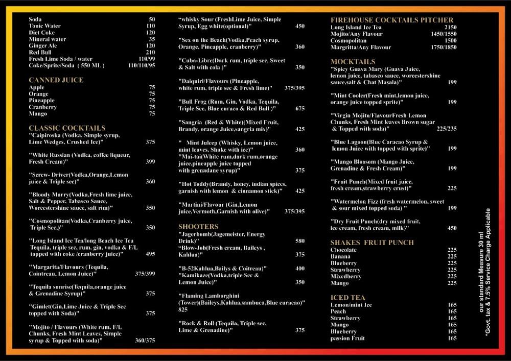 Firehouse-Pub & Lounge menu 2