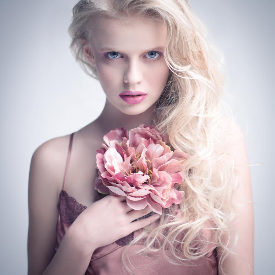 softly by Lukasz Piech - People Portraits of Women ( flower, portrait )