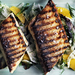 Grilled Mackerel with Radicchio, Fennel and Orange Salad