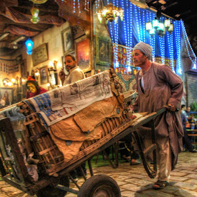 The Grocer by Tawfik Dajani - People Street & Candids