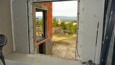 Photo: slaapkamer schuifraam verwijderd