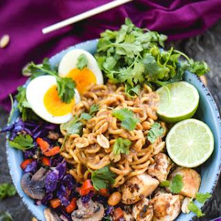 Thai Peanut Chicken Noodles.