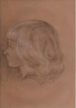 Photo: Knabenportrait, Bleistift, Kohle, Kreide, 1948