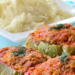 Lamb & Feta Stuffed Bell Peppers