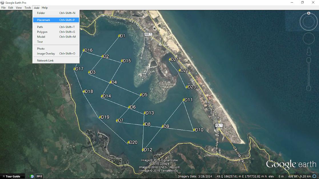 Lập bản đồ thu mẫu với Google Earth Pro – Thật đơn giản!