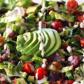 Vegan BLT Salad with Hemp Ranch Dressing