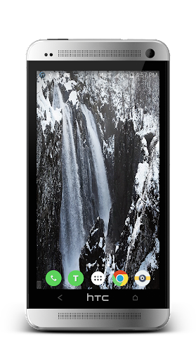 Snowy Waterfall Live Wallpaper