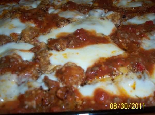 Rigatoni And Italian Sausage Bake (potluck)