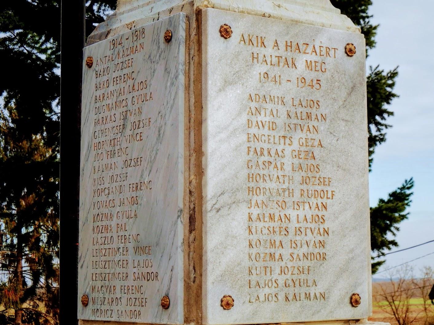 Sorokpolány - I. és II. világháborús emlékmű