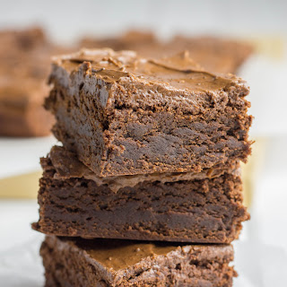 Double Chocolate Chewy Brownies.