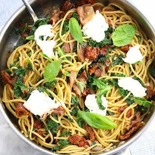 Kale & Sun Dried Tomato Spaghetti.