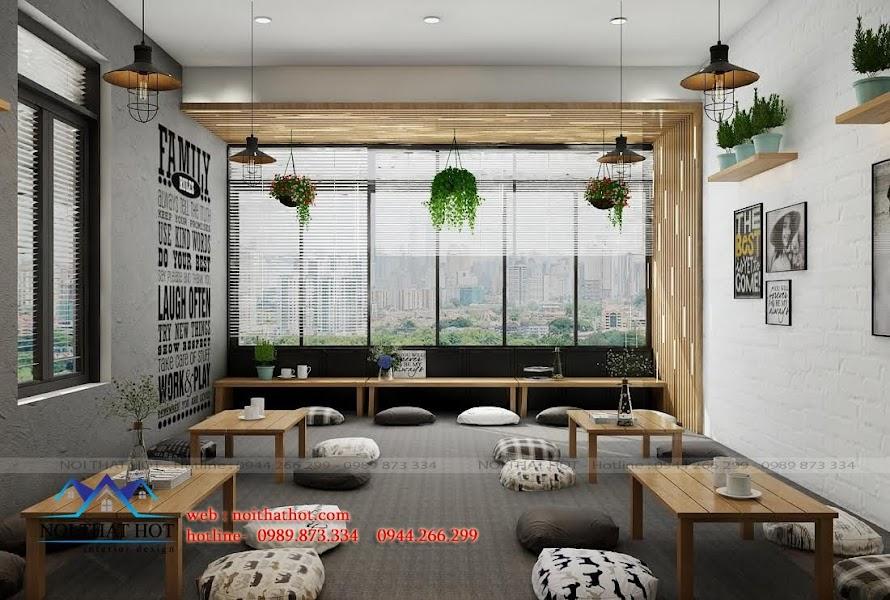 thiết kế quán cafe trà sữa đồ ăn nhanh