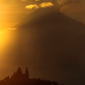 Church and Volcano by Cristobal Garciaferro Rubio - Buildings & Architecture Places of Worship