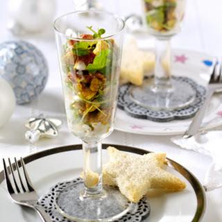 Feestelijke Salade Met Gekaramelliseerde Kalkoen En Vijgen