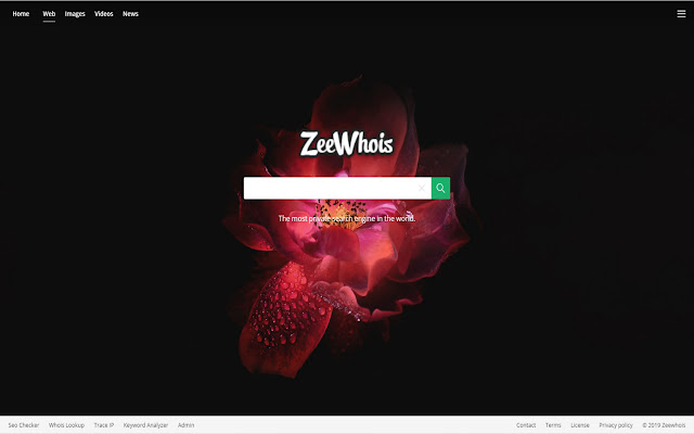 Zeewhois New Tab with Search