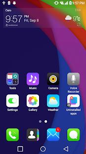 Flat LGHome Theme for LG G6 V30 G5 G4 G3 V20 K10 - náhled
