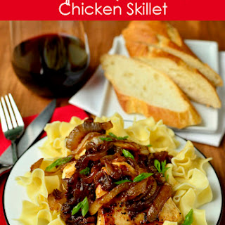 Honey and Balsamic-Onions Chicken Skillet.