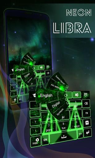 霓虹燈天秤座鍵盤