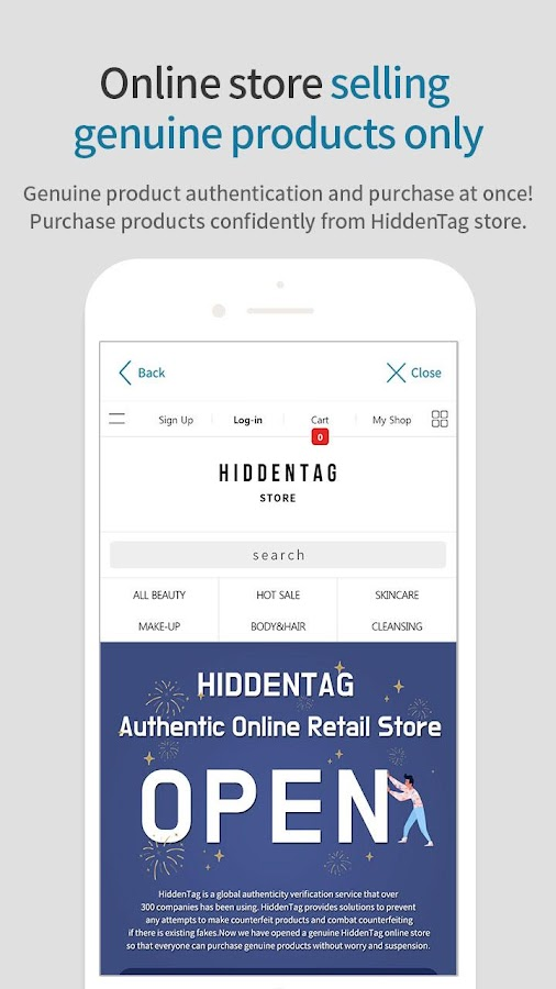 HiddenTag - authenticity verification&shopping- screenshot