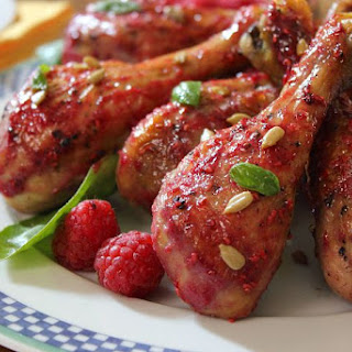 Chicken with Raspberry Chipotle Sauce.