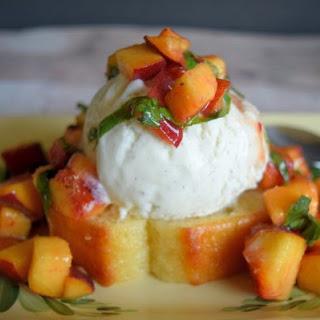 Pound Cake and Peaches Sundae