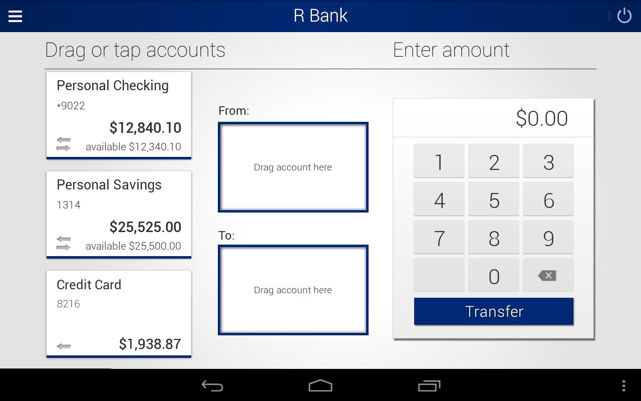 R Bank- screenshot