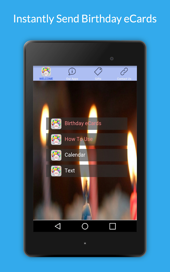 Uply Birthday Card App- screenshot