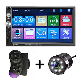 MP5 Player auto + Camera de marsarier HD + Bluetooth mirrorlink android ios