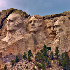 Excellence Carved in Stone-lr by Jim Johnston - Buildings & Architecture Statues & Monuments (  )