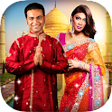 Traditional Couple Photo Dress icon