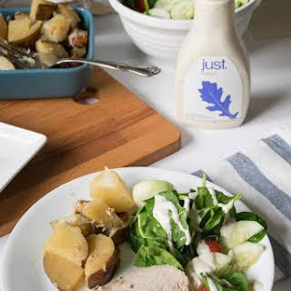 Simple Crockpot Pork Tenderloin and Vegetables.