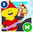 My Monster Town - Fire Station Games for Kids