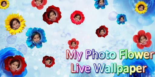 Photo In Flower Live Wallpaper