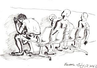 Photo: 由己不由己2012.07.12鋼筆 人在江湖萬事應 一入監獄病不停 苦窯諸多不由己 對錯抉擇非依命