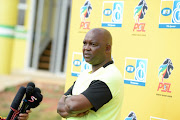 Mamelodi Sundowns head coach Pitso Mosimane speaks to reporters during a media day at the club's training base at Chloorkop on August 08, 2018 in Pretoria, South Africa.