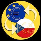 Conversor corona checa euro icon