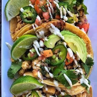 Vegan Cauliflower Street Tacos.