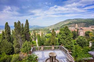 Photo: View of the private gardens and surounding city from Villa d'Este in Tivoli, Lazio, Italy