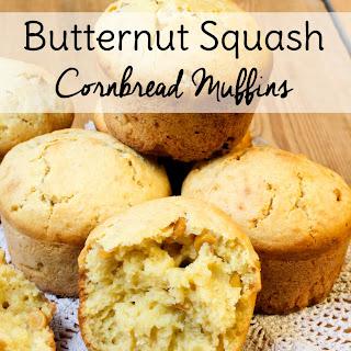 Butternut Squash Cornbread Muffins.