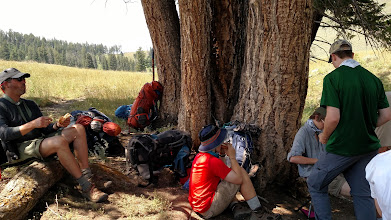 Photo: lunch spot on the way to Yellowstone Canyon camp site