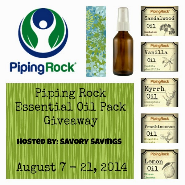 Photo: Giveaway time!! We've teamed up with SavorySavings.com to offer you the chance to win a Piping Rock Essential Oil Starter Pack!  Click here to check out the details & find out how to enter: bit.ly/1urdrXR  Best of luck!!  #pipingrock #giveaways #essentialoils #aromatherapy #giveaway
