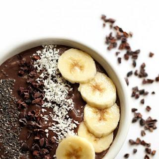 Banana Cacao Avocado Acai Bowl.