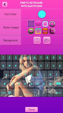 Photo Keyboard with Emoticons Screenshot
