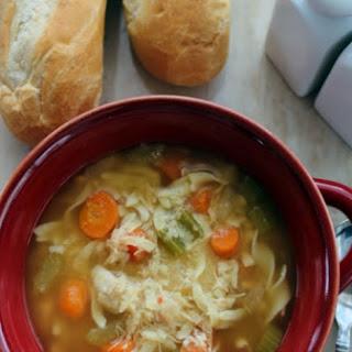 Crock Pot Chicken Noodle Soup.