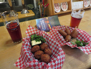 Photo: Beer and fried snacks