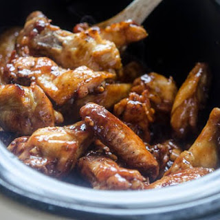 Slow Cooker Asian BBQ Chicken Wings.