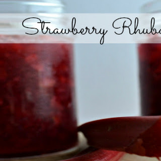 Easy Strawberry Rhubarb Jam.