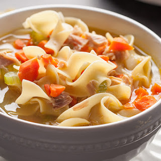 Turkey Vegetable Noodle Soup and Homemade Turkey Stock